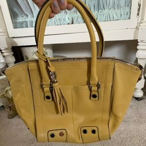 Tignanello Yellow Leather Bag